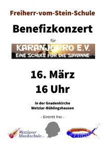 Benefizkonzert am 16.03.2019